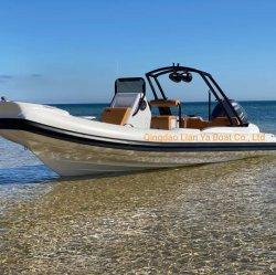 Liya 22pieds en caoutchouc de la coque des bateaux en fibre de verre Rib Inflatable Boats