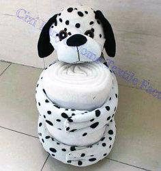 Прелестная малыша коралловых флис Blankets-Lovely Doggy