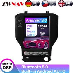 Bildschirm-Auto-DVD-Spieler GPS-Navigation der Android 9.0 Tesla Art-Px6 vertikale für Multimedia-Radio des Ford-Mustang-2015-2020
