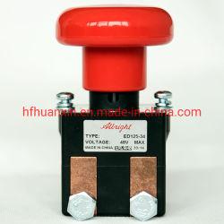 올브라이트 스위치 ED125-34는 폴란드 포크리프트를 위한 단 하나 던짐 on&off 48V 125A IP50 보호 수준을 골라낸다