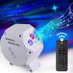 Projector van de Ster van de nacht de Lichte, Noordelijke Lichten van de Dageraad van de Vakantie van de Laser van de LEIDENE Wolk van de Nevel de Lichte 3D voor de Slaapkamer van de Baby van de Gift van Jonge geitjes en de Partij van het Huis van Kerstmis