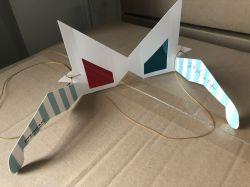 도매 영화관 승진을%s 주문 로고 특별한 디자인 종이 빨간 청록색 3D 유리