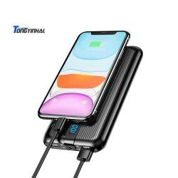 Novo Tongyinhai móvel portátil Carregador Rápido Digital Carregamento Ultra Slim 20000 mAh Powerbank capacidade grande banco de Potência