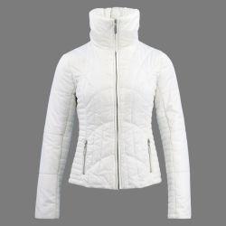Las mujeres blancas Down Jacket largo invierno Puffer Parka Vestido polo Coat chaqueta