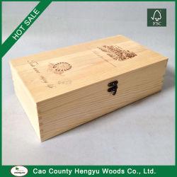 最もよい品質によってカスタマイズされるPaulowniaの木のワインボックス