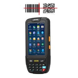 GSM Barcode 스캐너 NFC 데이터 단말기를 가진 소형 인조 인간 RFID UHF 독자 및 작가 이동할 수 있는 PDA