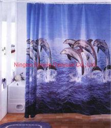 PEVA ПВХ полиэстер ванны шторки высокое качество является водонепроницаемым и при печати на виниловых душ шторки