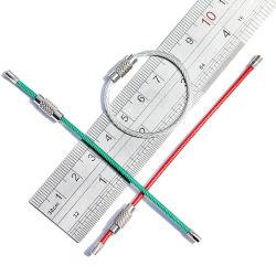 Cable de bloqueo de tornillo de colores de la cuerda de alambre de acero coloridos Llaveros Llavero de anillo partido