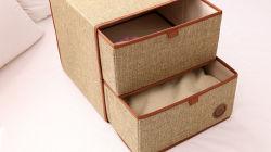 Tissu pliable de l'Organiseur de promotion Armoire de stockage d'une commode tiroir pour Socks Underwear