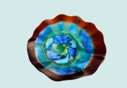 """جديدة 26 """" يد يفجّر فنية زجاجيّة طاولة طبق لوحة لوح مع [ولّ هنغ] جبل"""