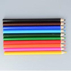 高品質Fscのシナノキの木製の文房具の標準サイズは7インチのジャンボ三角の柔らかさ一致ボディが付いているカラー鉛筆を導く