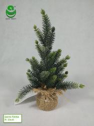 (0,8-1,7) FT PE Arbre de Noël artificiel pour la décoration - Socle en bois avec le chanvre