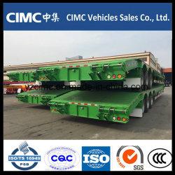 L'essieu lit Cimc 3 Basse camion-remorque de 70 tonnes de rampe hydraulique