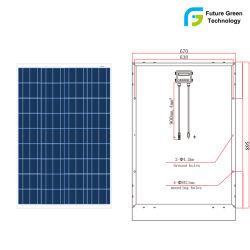 80W PV Module du panneau solaire polycristallin Rue lumière à LED