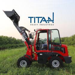 Titahhi 1200 kg Zl12f attacco agricolo trattore anteriore Weichai diesel Mini pala gommata con certificato CE Vendita a caldo in Europa