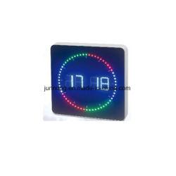 형식 작풍 다색 도는 LED 디지털 전자 시간 기록계