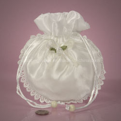Nouveau design fleur enchantée ronde Housse Satin Bag pour mariage à l'emballage (AM-SB009)