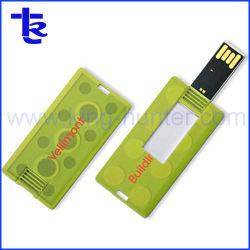 Regalos publicitarios rectángulo mini tarjeta USB Flash Drive Stick