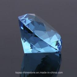 100мм многоцветный точки задней части стекла K9 Crystal большого размера Diamond валики свадебный подарок для гостей (PB-Аквамарин)