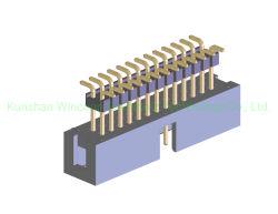 ヘッダ1.27mm 1mm 2mmピッチ4pin 10 Pin 50 PinのソケットPCBの二重列のまっすぐな男性の電源コネクタPinヘッダ