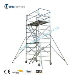 De multifunctionele Toren van de Steiger van het Aluminium Mobiele met het Wiel van de Ladder en van de Gietmachine