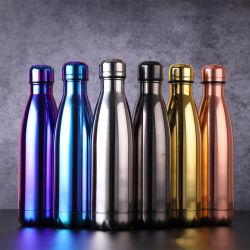 Цвет Electroplate вакуумные чашки экологичный из нержавеющей стали на открытом воздухе бутылку Кола Бутылка воды