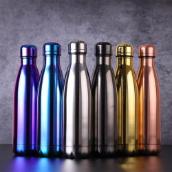 Soem-Firmenzeichen-doppel-wandige Isoliervakuumkolben-Edelstahl-Kolabaum-Form-Sport-Wasser-Flasche