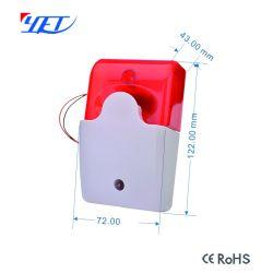 Encore619 Système d'alarme de sécurité DEL rouge clignotante d'alarme sirène de lampe