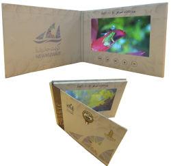 Fabrik Soem 7 Geschäfts-Einladungs-elektronische Broschüre-videogruß-Karte Zoll LCD-IPS HD für das Bekanntmachen