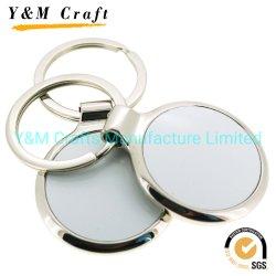 Spazii in bianco promozionali su ordinazione di sublimazione del metallo del regalo della catena chiave