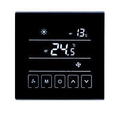 Termostato ambiente digital con pantalla táctil IP20 Sensor NTC 86*86*14mm.