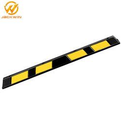 183cm Heavy Duty reflectante de color amarillo y negro de la rueda de goma tope de estacionamiento