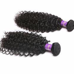 100 % Kinky de tissage de Cheveux humains indiens cheveux bouclés vierge