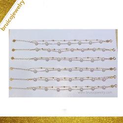 China Schmuck Hersteller Custom 925 Sterling Silber Perle Schmuck Armband Mit Goldkette
