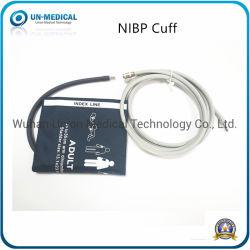 طوق بالغ من NIBP مقاس 25-35 سم قابل لإعادة الاستخدام لمراقبة ضغط الدم