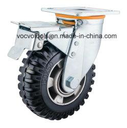 Macchina per colata continua di gomma nera resistente di Skidproof con la memoria di alluminio della rotella
