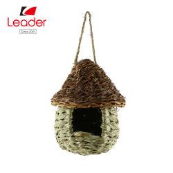 Birdhosue naturais, natural de ninho de pássaro de Birdhouse palha para decoração exterior