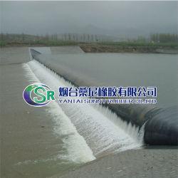 Diga di gomma gonfiabile dell'acqua con la struttura stabile