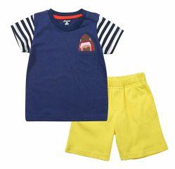 De Kinderen die van de Kleding van de baby Katoenen van de Jongen Uitrustingen kleden 2 Stukken die Reeks kleden