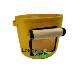 2-Pack 10 Gallonen-Kartoffel-Pflanzer-Beutel, doppelte Schicht-nichtgewebte Tuch-Gewebe-Potenziometer mit Griffen u. Fenster-pflanzender Gemüsebeutel