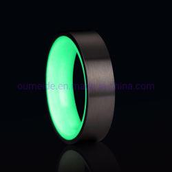 Brilho de carbono moda anéis jóias brilhantes jóias anel brilhante