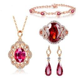 Manier 925 de Echte Reeks van de Juwelen van de Overeenkomst van de Halfedelsteen van de Douane van Juwelen Vastgestelde