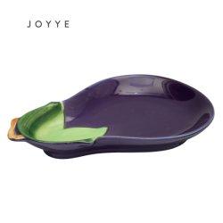 [فرويت فجتبل] طبق باذنجان شكل طبق صنع وفقا لطلب الزّبون لوحة خزفيّ