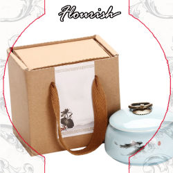 La porcelaine de papier kraft brun renforcé un emballage cadeau Box