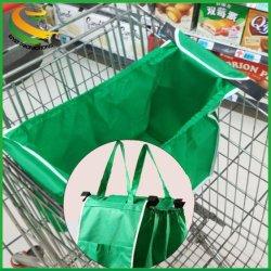 Производитель оптовая торговля складные супермаркет тележки не тканый мешок многократного использования продуктовый Clip-сумку для пневматической тележки