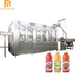 زجاجة زجاجية تلقائية تعبئة عصير البرتقال الطازج معدات تعبئة تعبئة تعبئة القنينة