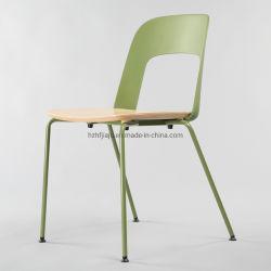 2020 Nouvelle conception empilable chaise en plastique en bois cintré en métal Restaurant