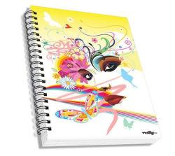 Tamanho A5 por escrito o Notebook Livro de exercícios com tampa de papel Encadernação em espiral com preço baixo