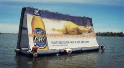 Acqua gonfiabile del blocco per grafici che fa pubblicità al galleggiante del tabellone per le affissioni