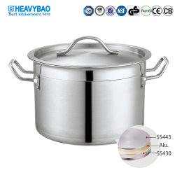 Heavybao Hot Sale 05 stijl Sandwich Base Cooking Stock Pot